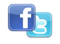 Facebook and Twitter logo together