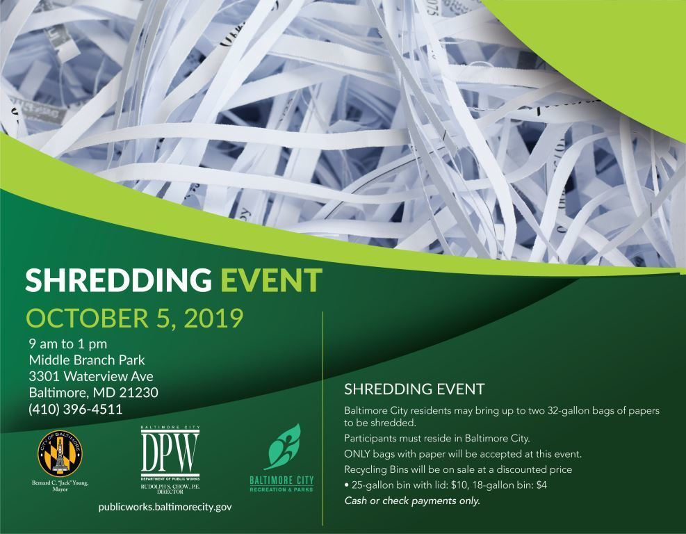 Oct. 5. 2019, Shred Day