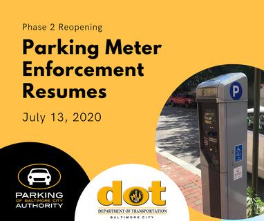 July 13 Parking Enforcement Resumes