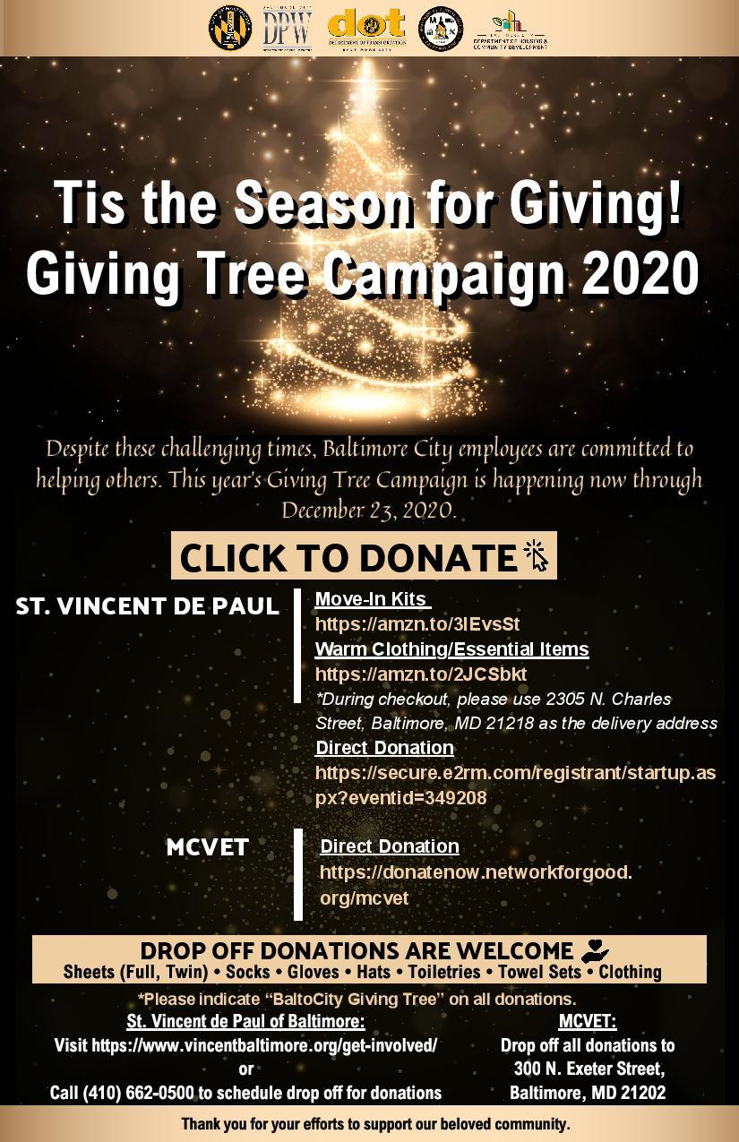 2020 Giving Tree Campaign