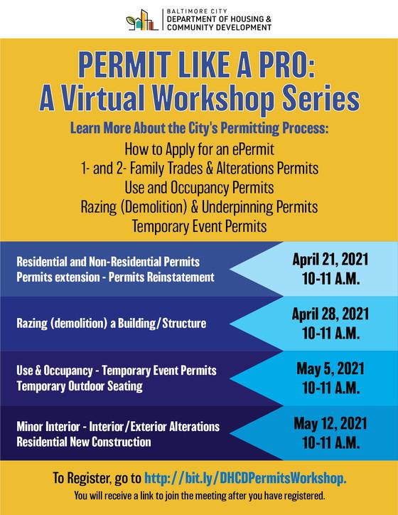 Permit Like a Pro: A DHCD Virtual Workshop Series