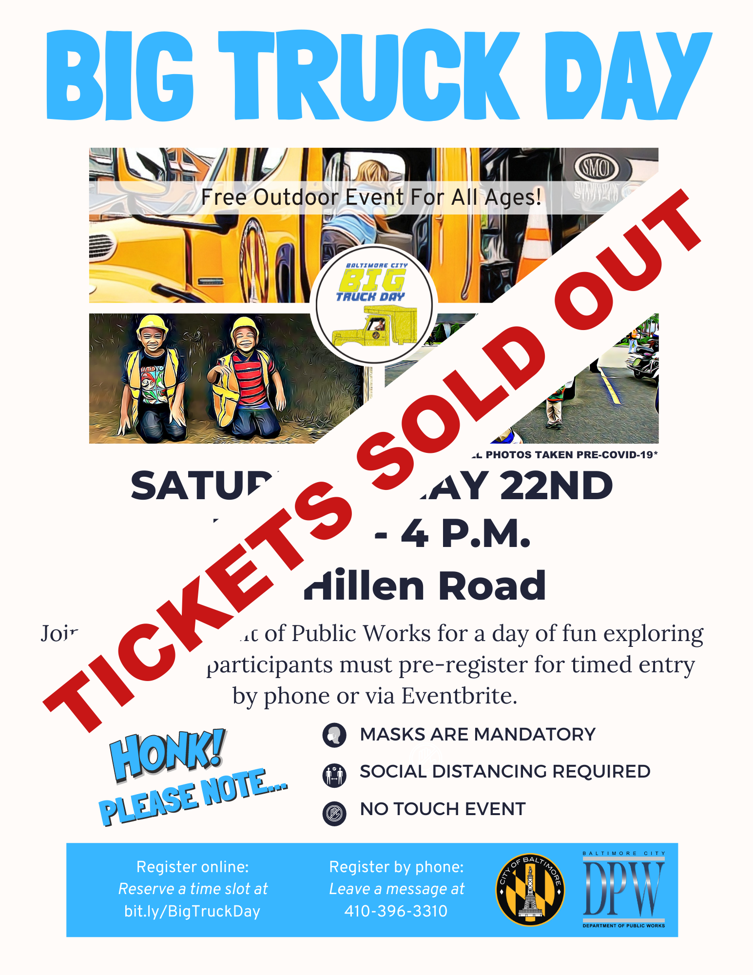 Big Truck Day Tickets Sold Out