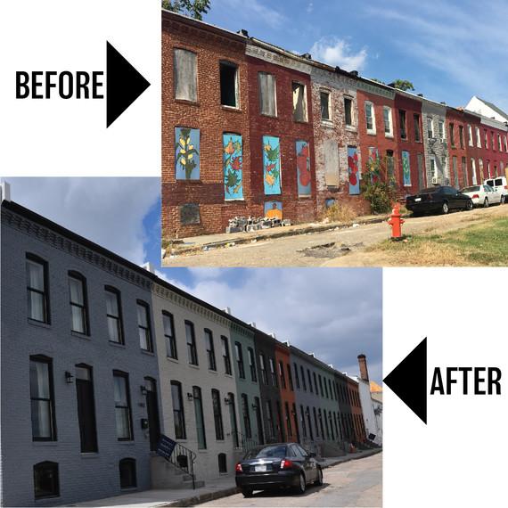 1400 Block N. Bethel Street-Before & After