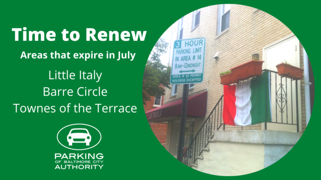 Areas that Renew in July