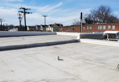 A section of City of Refuge's rooftop that will soon be hosting solar panels! Picture c/o Brad Boston of SunCatch Energy.