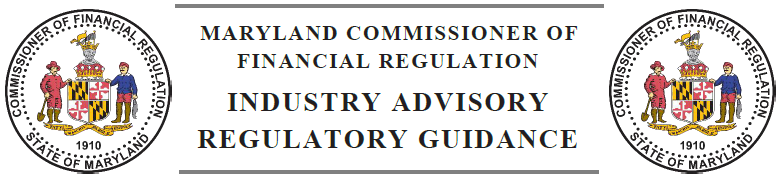 OCFR Industry Advisory-Regulatory Guidance
