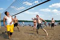 Photo of: Men playing volleyball