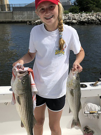Photo of Ava Krasauskis enjoying a day fishing with her father. Photo by Karl Krasauskis