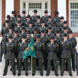 Photo of new police graduates