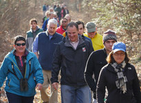 Photo of hikers, including Secretary Mark Belton