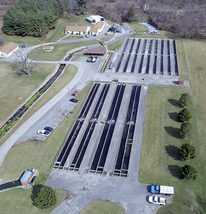 Aerial photo of hatchery facility