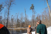 Photo of youth learning to hunt waterfowl