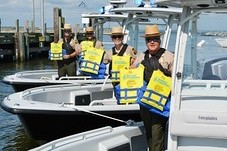 Photo of Natural Resource Police officers with life jackets