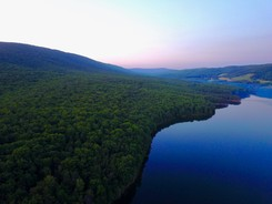 Photo of Rocky Gap State Park mountain and lake