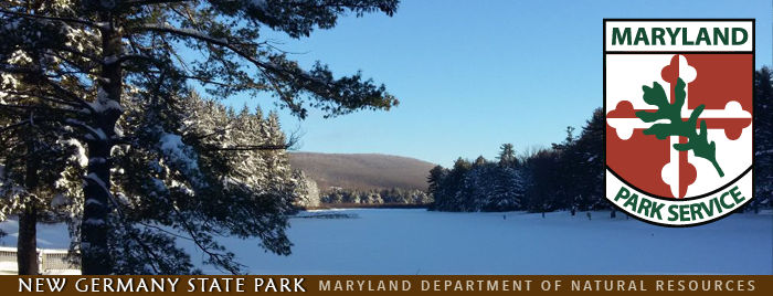 Photo of New Germany State Park with fresh snow