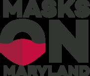 Image of masks on Maryland logo