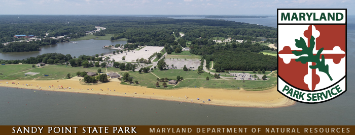 Aerial photo of Sandy Point State Park