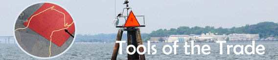 Photo of navigation marker in the Chesapeake Bay