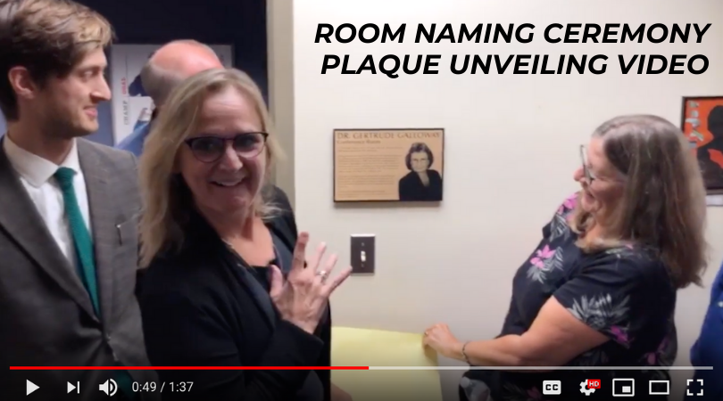 Room Naming Ceremony Plaque Unveiling Video
