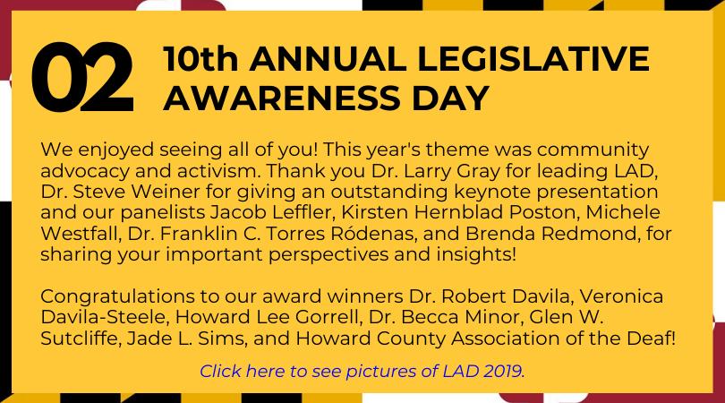 10th Annual Legislative Awareness Day