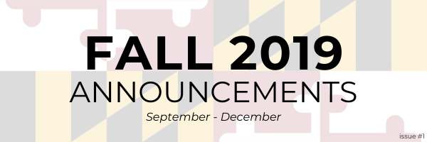 Fall 2019 Announcements: September - December. Issue #1.
