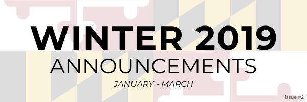 Winter 2019 Announcements