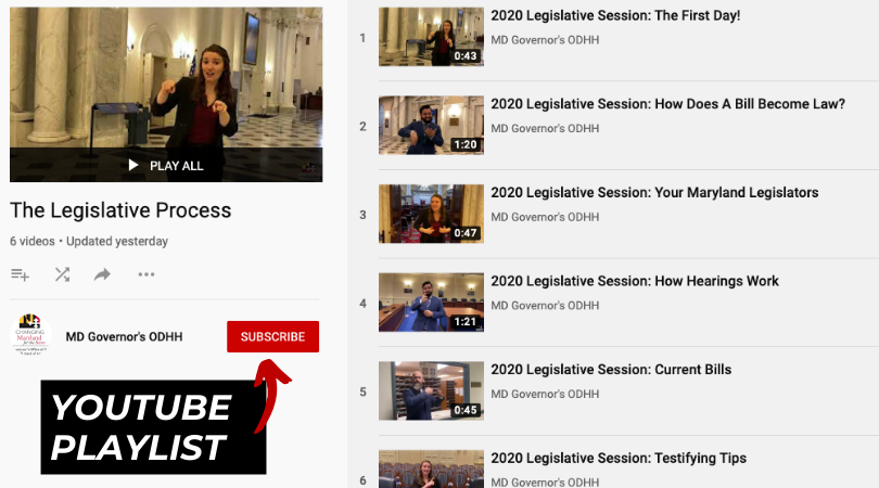 YouTube Playlist: Legislation