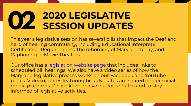 2020 Legislative Session Updates