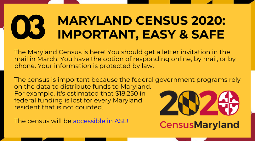 MARYLAND CENSUS 2020: IMPORTANT, EASY & SAFE