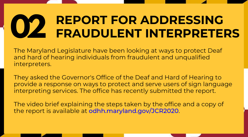REPORT FOR ADDRESSING FRAUDULENT INTERPRETERS