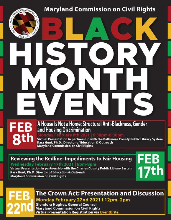 MCCR Black History Month Flyer