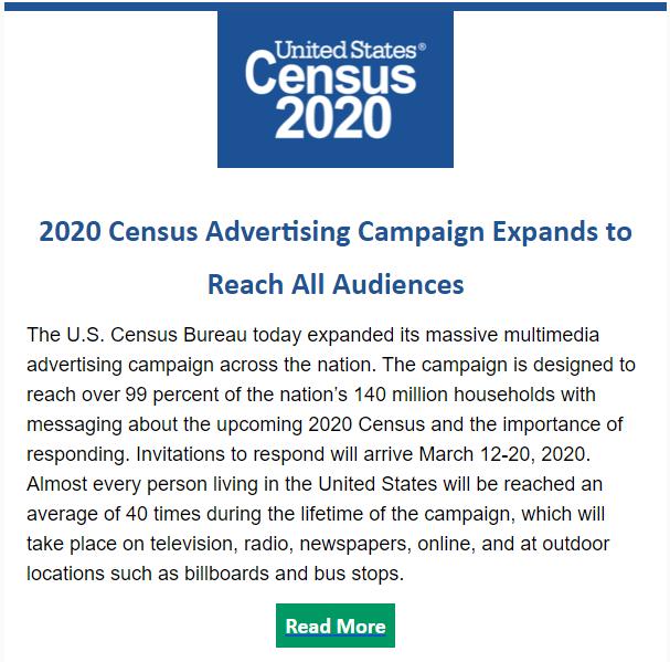 Census Bureau Expands Advertising