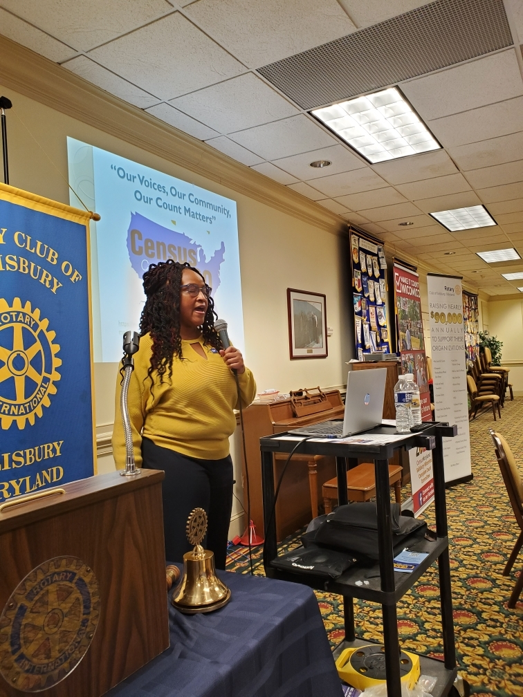 Salisbury-Wicomico 2020 Census Reaches Out to the Rotary Club