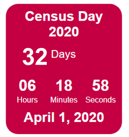 32 Days Until Census Day 2020