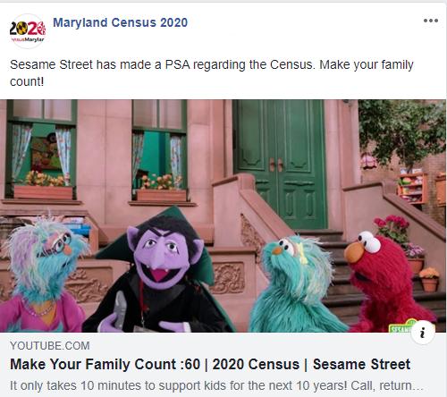 Census Maryland 2020 Social Media
