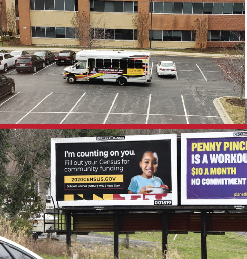 Maryland Census 2020 Billboards and Bus Wraps Have Been Spotted in Maryland