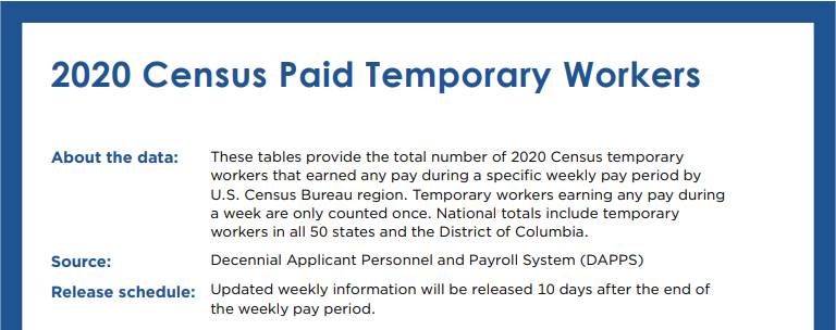 2020 Census Paid Temporary Workers