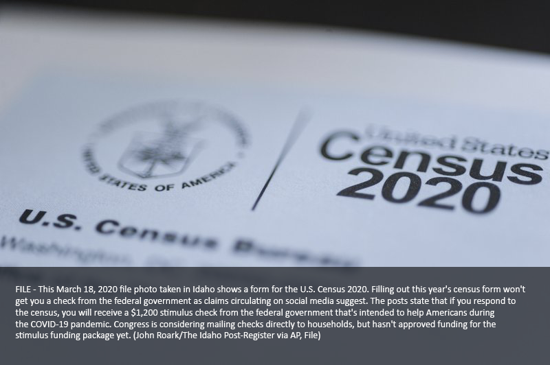 Online posts falsely Claim Census Response Will Lead to Cash