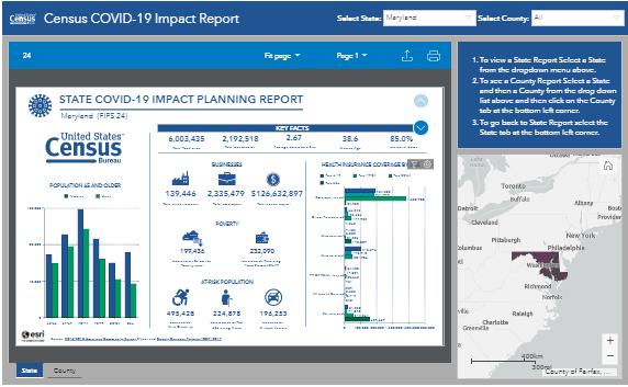 Census Bureau Releases Interactive Data Hub in Response to COVID-19