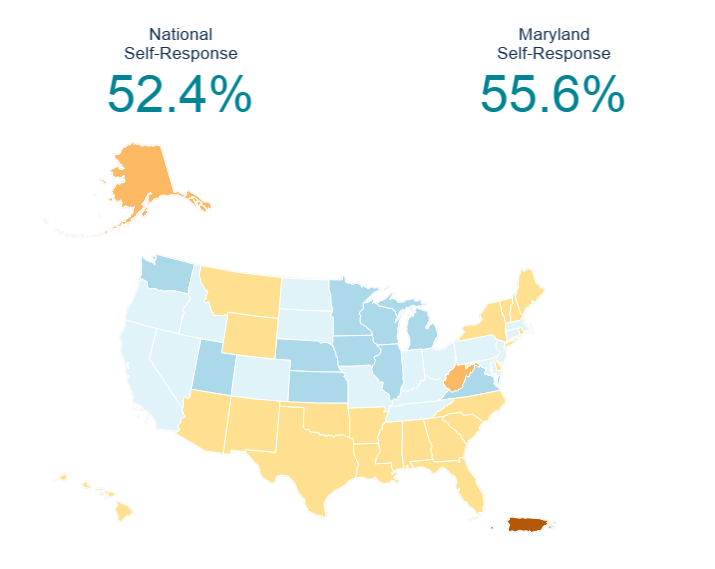 April 24, 2020 Response Rate National Map