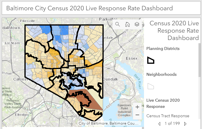 Baltimore launches online dashboard with live 2020 Census updates, adapts to spreading awareness