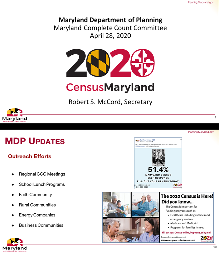 Maryland's Complete Count Committee Virtually Meets to Discuss Census Efforts
