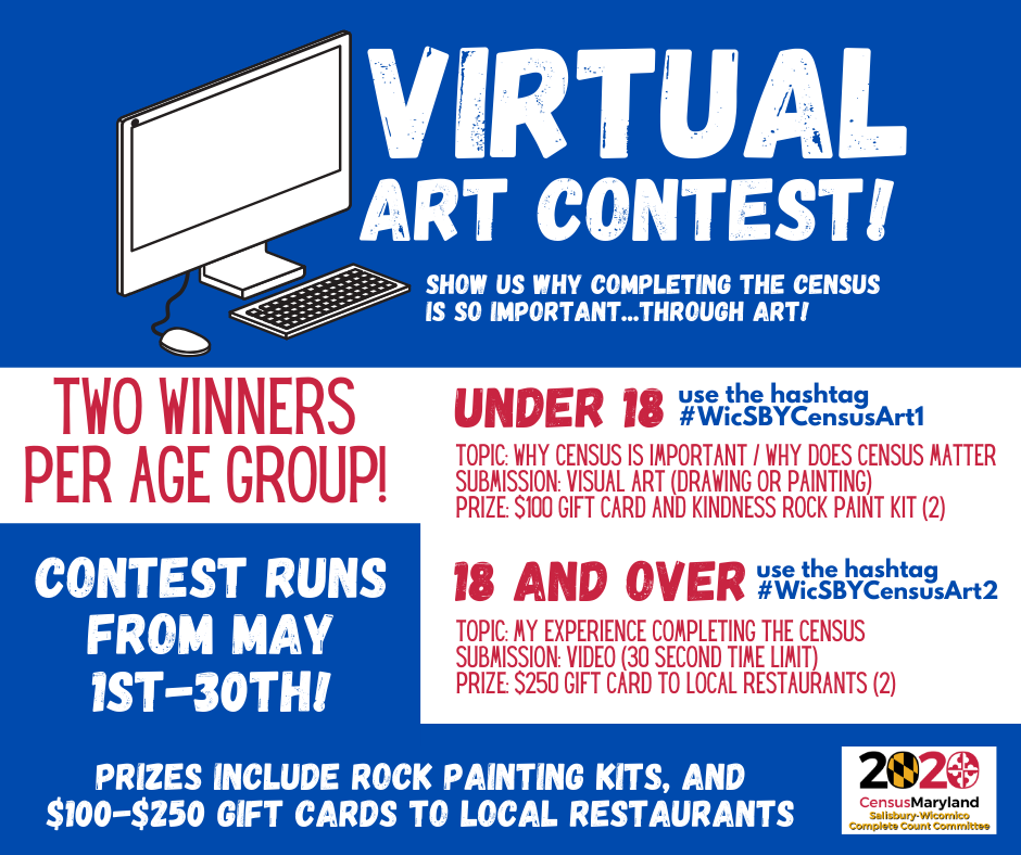 Salisbury-Wicomico Complete Count Committee Holding Virtual Art Contest to Promote Importance of the Census