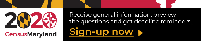 Maryland Census - Sign up for updates