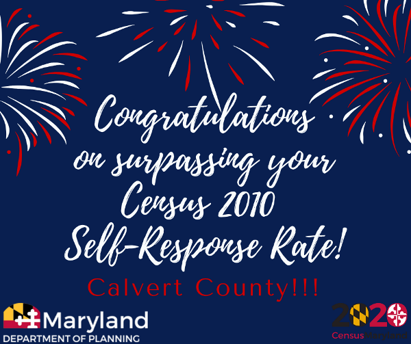 Calvert County Exceeds 2010 Response Rate in the 2020 Census