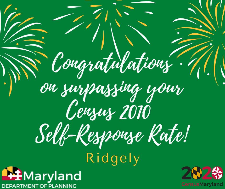 Ridgely-surpasses-2010-response-rate