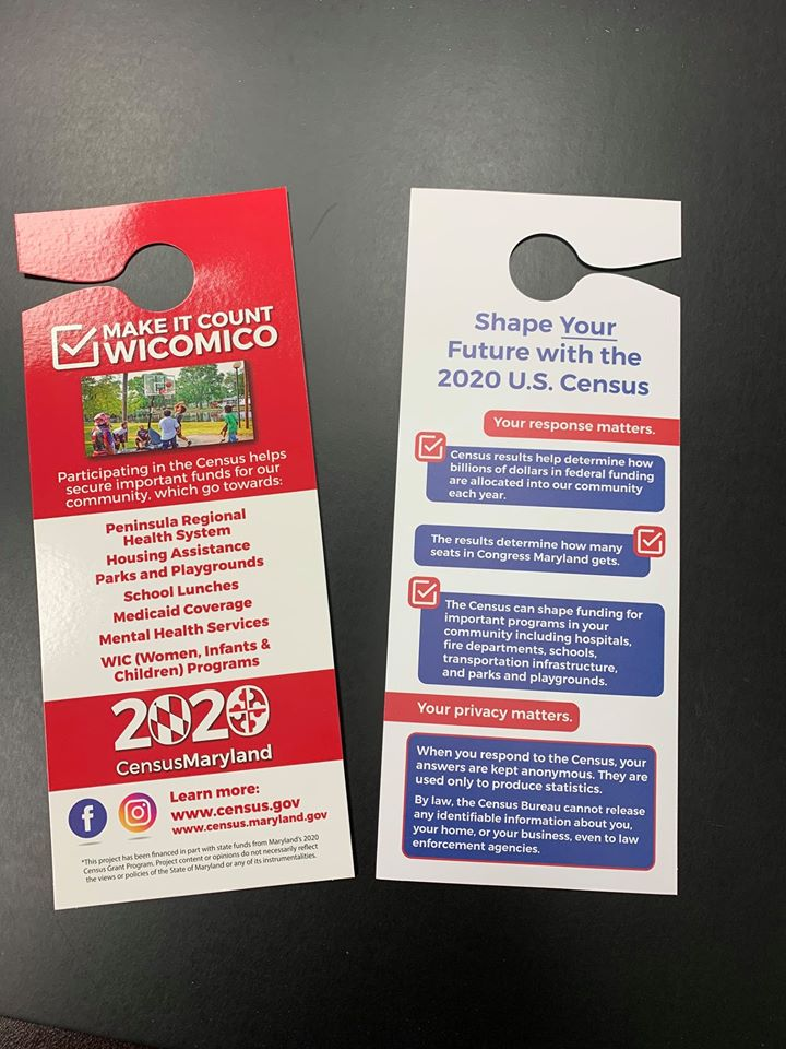 Wicomico County Census 2020 door hangers