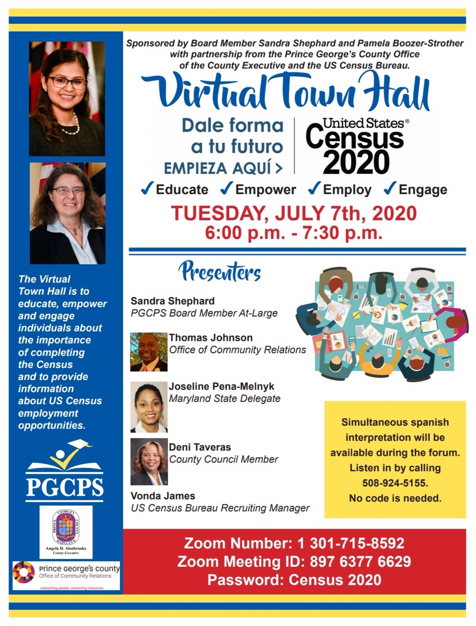 Prince George's County Virtual Town Hall, July 7