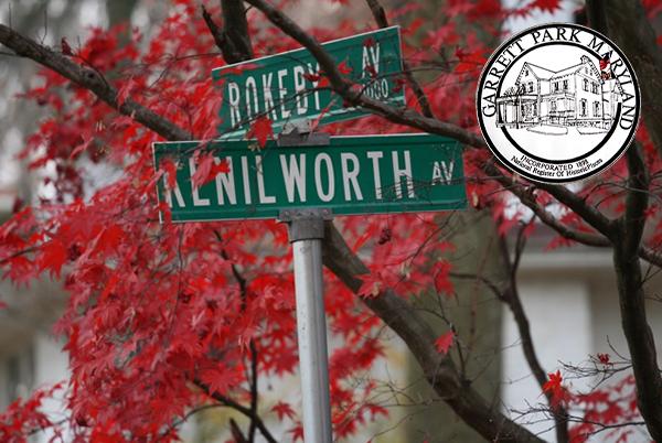 Garrett Park Seal and Cross Street