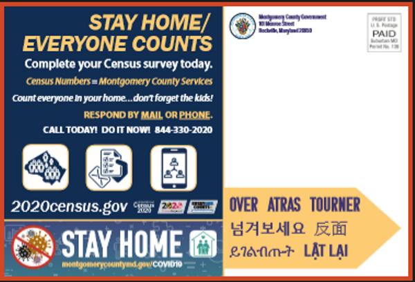 Montgomery County Census Postcard